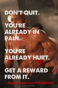 Fitness and the want to be fit will always seem crazy and masochistic to those on the outside looking in