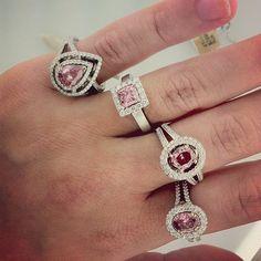 PINK Diamonds!  luv halo designs
