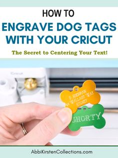 How to Engrave Dog Tags with Your Cricut Maker Quickswap Tool Learn the secret to engraving small dog tags with the Cricut Maker engraving tip. Get free engraving templates to keep your text centered and hatch fill patterns! Silhouette Cameo Freebies, Silhouette Cameo Shirt, Silhouette Projects, Cricut Projects To Sell, Cricut Tutorials, Cricut Project Ideas, Vinyl Craft Projects, Dog Crafts, Vinyl Crafts