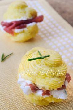 Baci di patate con stracchino e bresaola vickyart arte in cucina