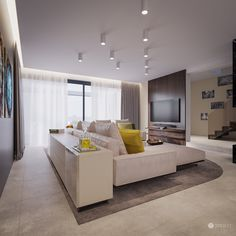 Interior design of this family residence is mainly based on the fundamental principals of identity of TOLICCI. The basis is formed by earthy, warm hues Luxury Interior, Interior Design, Luxury Living, Modern Living, Sofa, Couch, Living Room Designs, New Homes, Designer
