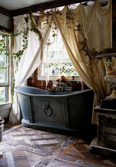 rustic BATHTUB