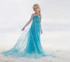 Frozen - Prinses Elsa jurk met sleep