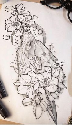 35 ideas for great tattoo designs - # for - diy tattoo images - Best Tattoo Share Great Tattoos, Trendy Tattoos, Beautiful Tattoos, Body Art Tattoos, New Tattoos, Awesome Tattoos, Tatoos, Awesome Drawings, Cool Wolf Drawings