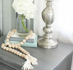 DIY Wooden Bead Strand and a GIVEAWAY   Meaningful Spaces #triplePfeature