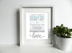 The Cure  Friday I'm In Love  8x10 inch Lyrics by SmartCreative