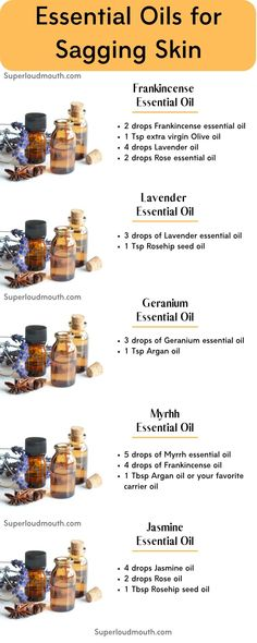 """Essential Oils for Sagging skin Essential Oils for Skin Tightening - Get rid of Saggy skin<br> There are natural solutions such as """"Therapeutic Essential oils"""" which tightens skin and reduce other aging skin problems such as wrinkles and scars. Essential Oils For Skin, Geranium Essential Oil, Frankincense Essential Oil, Essential Oil Blends, Tighten Stomach, Lower Stomach, Tighten Skin, Limpieza Natural, Skin Bumps"""