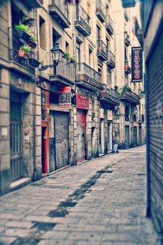 Impression de Barcelone, quartier gothique, photographie de voyage, Graffiti…