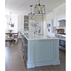 Crystorama Libby Langdon for Sylvan 4 Lights Chandelier Cool antique kitchen cabinets Blue Kitchens, Kitchen Remodel, New Kitchen, Kitchen Styling, Rustic Kitchen, New Kitchen Cabinets, Kitchen Renovation, Blue Kitchen Island, Kitchen Design
