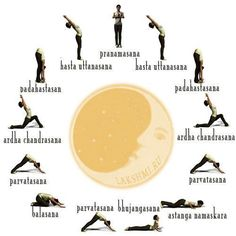 moon salutation. We did this in my yoga class and it was wonderful. I felt so open afterwards. I am so glad to find a chart for it so I can repeat at home.