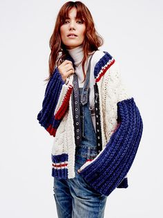 East Gate Cable Knit Bomber from Free People!
