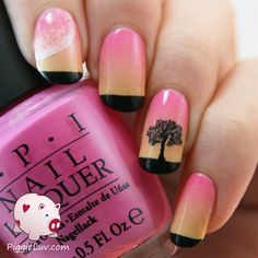 Soft sunset gradient by PiggieLuv from Nail Art Gallery