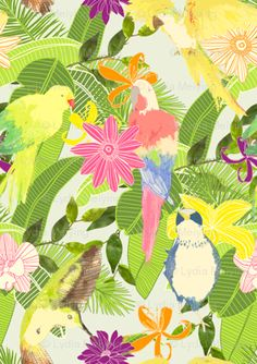 tropical lydia_meiying @Spoonflower.com