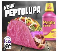 It's Taco Tuesday 🤣 Taco Bells, Pink Taco, Taco Humor, Laughter The Best Medicine, Mind Blowing Facts, Weird Food, Crazy Food, Smiles And Laughs, Taco Tuesday
