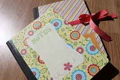 Mod Podge on composition notebooks