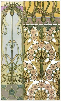 Alphonse (Alfons) Mucha - Illustration - Art Nouveau - Documents Decoratifs - 1901.