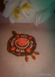 orange and brown harmony-pendant