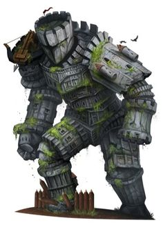 D&D Colossus. If you play fantasy games you are probably familiar with what a golem is. However, not as many people are likely to know what a colossus is in D&a Monster Concept Art, Monster Art, Creature Concept Art, Creature Design, Fantasy World, Dark Fantasy, Fantasy Character Design, Character Art, Arte Assassins Creed