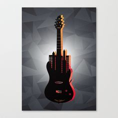 music  Canvas Print by Mark Ashkenazi - $85.00