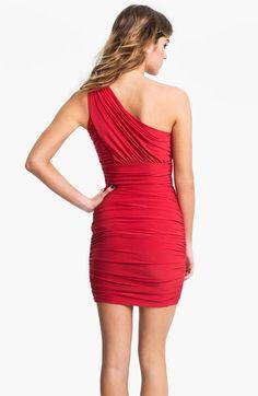 Soprano Ruched One Shoulder Dress