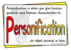 Personification example from mr sun figurative language a set of 13 printables that give examples of personification with a title page there are 12 different personified sentences with pictures that will help fandeluxe Images