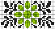 Floral design perler bead pattern