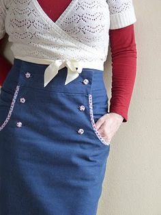 love this skirt.It has that touch of retro. pattern by burdastyle.com