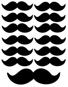Mustache Cupcake Toppers 12 edible images for Cupcakes, cookies, brownies or any dessert birthday.