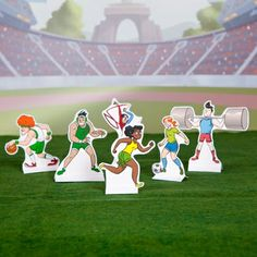 Olympic Summer Games Playset - - pinned for Kidfolio, the parenting mobile app that makes sharing a snap Creative Activities, Craft Activities For Kids, Summer Activities, Craft Ideas, Summer Games, Winter Games, Summer Fun, Olympic Idea, Olympic Games