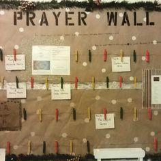 Prayer Wall Bulletin Board idea for church