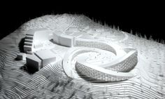 BIG architects koutalaki ski village is part of architecture - conceived as a gentle extension of the summit, the winning design creates four artificial hills for skiers while housing various functions and accommodations within Cultural Architecture, Architecture Résidentielle, Organic Architecture, Futuristic Architecture, Amazing Architecture, Google Architecture, Computer Architecture, Architecture Student, Design Innovation