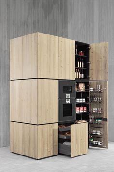 Solid #wood #kitchen MONOLITI NATURAL SKIN by Minacciolo | #design Silvio Stefani