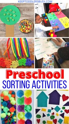 9 Brilliant Sorting Activities For Preschool and Beyond Sensory Activities For Preschoolers, Toddler Learning Activities, Sorting Activities, Fun Learning, Fun Crafts For Kids, Easy Diy Crafts, Toddler Crafts, Pom Pom Crafts, Paper Plate Crafts