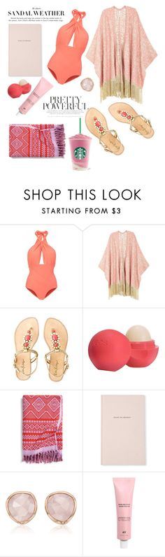 """Summer Date"" by poloro ❤ liked on Polyvore featuring Lilliput & Felix, Melissa McCarthy Seven7, Lilly Pulitzer, Eos, Vera Bradley, Kate Spade, Monica Vinader, beach, summerdate and plus size clothing"