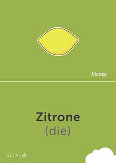 Zitrone #CardFly #flience #food #fruits #german #education #flashcard #language