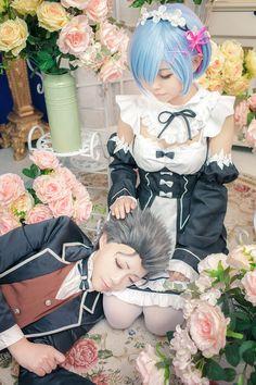 Natsuki Tsubaru/Rem (Re:Zero kara Hajimeru Isekai Seikatsu) Source:worldcosplay.net #WorldCosplay#Natsuki Tsubaru#Re:Zero kara Hajimeru Isekai Seikatsu#rem#cosplay