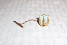 Mid Century Vintage Liberty Bell Tie Tack Gold by MyVintageHatShop