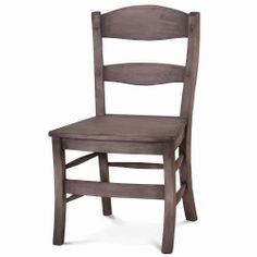 Peg & Dowel Low Ladder Back with Wooden Seat