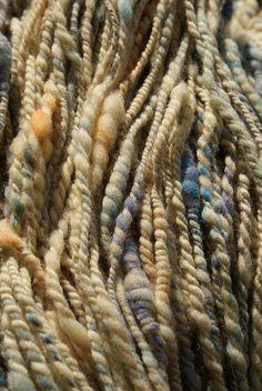 natural color hand spun wool