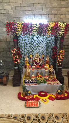 Housewarming Decorations, Wall Decorations, Festival Decorations, Flower Decorations, Wedding Decorations, Floral Designs, Blouse Designs, Decoration For Ganpati, Puja Room