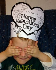 Valentine's Day Printable Hat The Fox Says Happy Valentine's Day