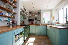 Kitchen in turquoise