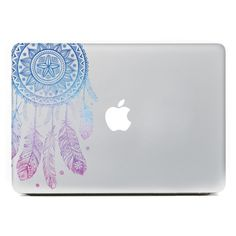 "Amazon.com: iCasso Dream Catcher Removable Vinyl Decal Sticker Skin for Apple Macbook Pro Air Mac 13"" inch / Unibody 13 Inch Laptop (Blue and Pink): Computers & Accessories"
