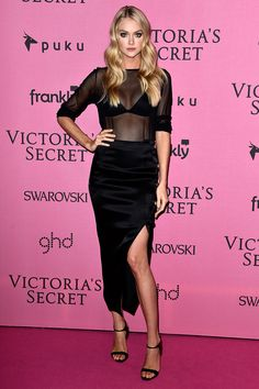 Lindsay Ellingson - Victoria's Secret Fashion Show 2014 red carpet pictures | Harper's Bazaar
