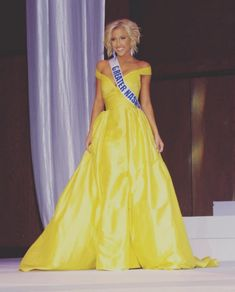 "9. Miss Tennessee Teen USA 2016 – Savannah Chrisley | In my opinion, this is the most ""fun"" gown of the year. Any young woman wearing this sunshine yellow gown is sure to be the life of any party. The billowing style packs a dramatic punch, but the color is as fresh as it gets! The cherry on top of this look is the fact that she opted to kick traditional pageant styling to the curb and rock a more funky coif.  Read more: http://thepageantplanet.com/top-10-pageant-gowns-of-2015/#ixzz3xoLjQqjz"