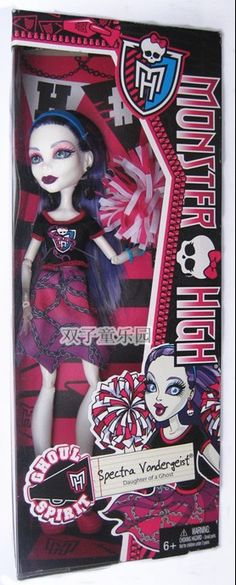 Last but not least Spectra Vondergeist Ghoul Spirit In box! The Ghoul Spirit dolls are showing p in Target's system as Dance Class! They should be hitting stores really soon late 2014 New Monster High Dolls, Tumblr, New Dolls, Dance Class, Spirit, News, Box, Boxes