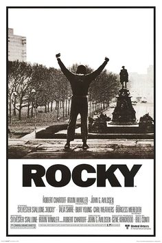 Rocky posters: This black and white Rocky poster features cinema art from the original and iconic 1976 Rocky film. Rocky was written by and starred Silvester Stalone, as Rocky Balboa. This Rocky poster features a black and white shot od Stallone as Rocky Rocky Poster, Poster S, Movie Poster Art, Poster Prints, Rocky Balboa Poster, Poster Frames, Movie Prints, Art Posters, Vintage Posters