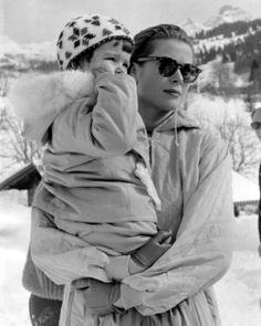 Princess Grace and Princess Caroline of Monaco