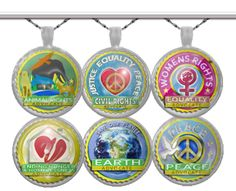Custom designed art silver plated pendents each sold separately with its own chain. Using artwork to help advocate for the kind of world we want to live in together, each pendent helps create more heart to heart conversations about what we care about in life.