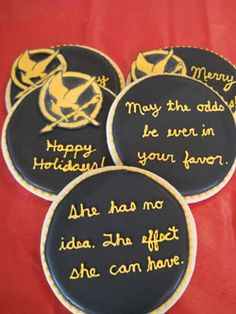 hunger game holiday gift as well as lots of super cool hunger game ideas
